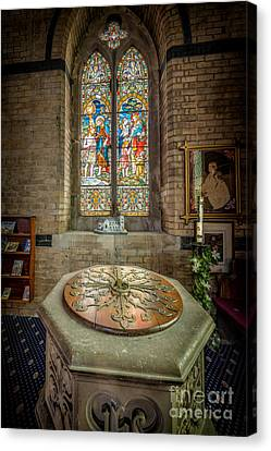 The Limestone Font  Canvas Print by Adrian Evans