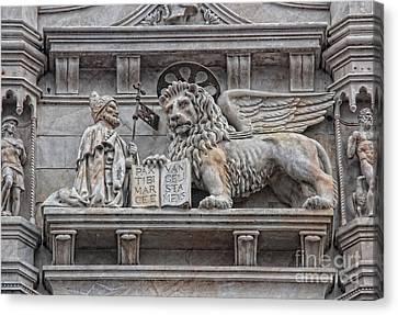 The Lion Of Saint Mark II Canvas Print by Lee Dos Santos
