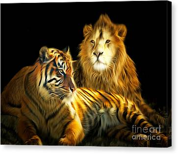 The Lions Den 201502113-2brun Canvas Print by Wingsdomain Art and Photography