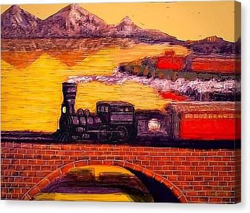 The Little Engine Canvas Print by Larry Lamb