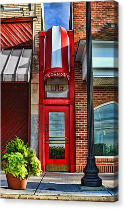 The Little Popcorn Shop In Wheaton Canvas Print by Christopher Arndt
