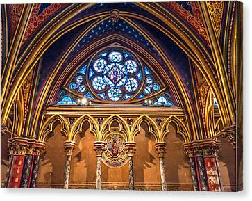 The Little Window In Sainte-chapelle  Canvas Print by Tim Stanley