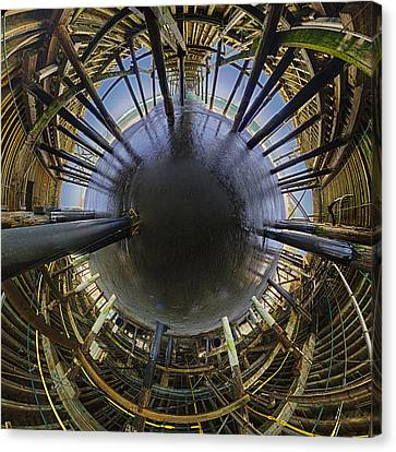 The Little World Under The Pier Canvas Print by Scott Campbell