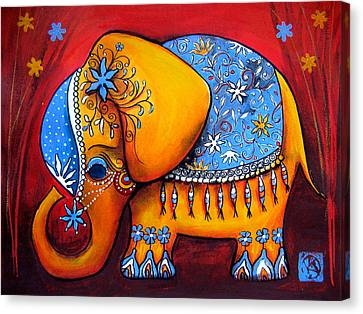 The Littlest Elephant Canvas Print by Karin Taylor