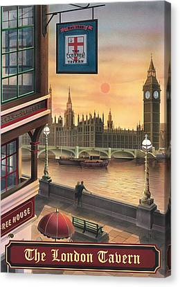 The London Tavern Canvas Print by Peter Green