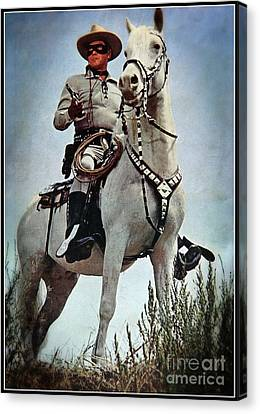 The Lone Ranger Canvas Print by Bob Hislop