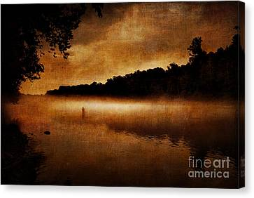 The Lonely Fisherman Canvas Print by Cindy Tiefenbrunn