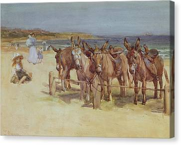 The Longsands, Tynemouth, Northumberland Canvas Print by John Atkinson