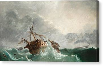 The Loss Of The French Droits De Lhomme Canvas Print by Tudgay Family