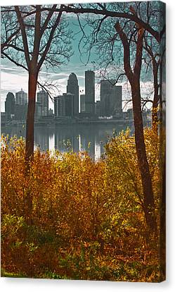 The Louisville Skyline Canvas Print by Sid Webb