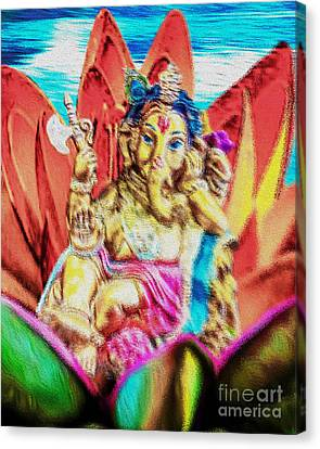 The Love Of Ganesh Canvas Print by Tarik Eltawil