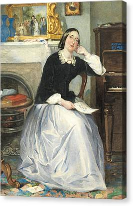 The Love Token Canvas Print by Frederick Walker