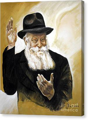 The Lubavitcher Rebbe Canvas Print by Yael Avi-Yonah