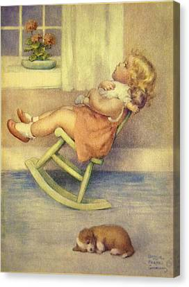 The Lullaby Canvas Print by Bessie Pease Gutmann