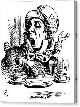 The Mad Hatter Canvas Print by John Tenniel