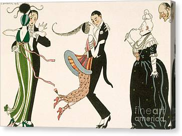 The Madness Of The Day Canvas Print by Georges Barbier