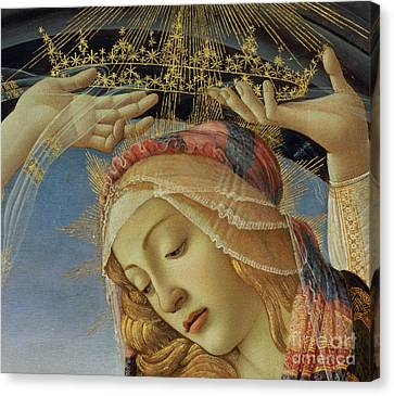 The Madonna Of The Magnificat Canvas Print by Sandro Botticelli