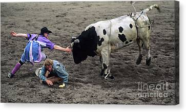 Rodeo The Magic Touch Canvas Print by Bob Christopher
