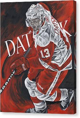 The Magician - Pavel Datsyuk Canvas Print by David Courson
