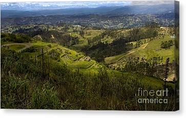 The Magnificent View From Cojitambo Canvas Print by Al Bourassa