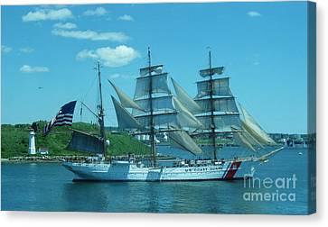 The Majestic Us Coast Guard Canvas Print by John Malone