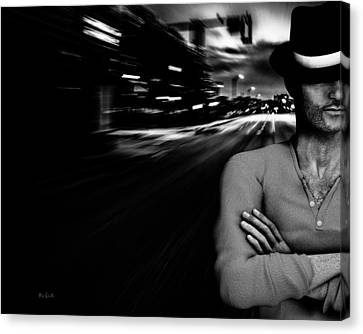 The Man In The Hat Returns Canvas Print by Bob Orsillo