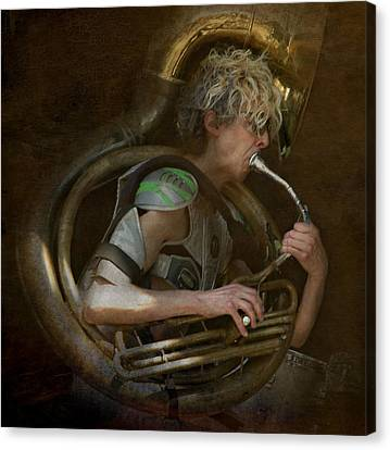 The Man - The Tuba Canvas Print by Jeff Burgess