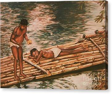 The Mango Eaters Canvas Print by John Clark