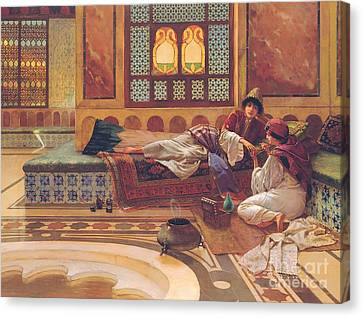 The Manicure Canvas Print by Rudolphe Ernst