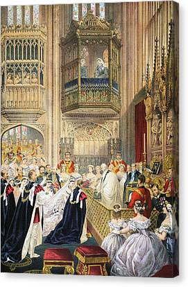 The Marriage At St Georges Chapel Canvas Print by English School