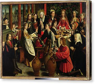 The Marriage Feast At Cana Canvas Print by Gerard David