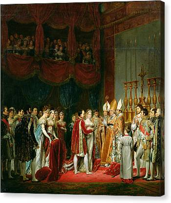 The Marriage Of Napoleon I 1769-1821 And Marie Louise 1791-1847 Archduchess Of Austria, 2nd April Canvas Print by Georges Rouget