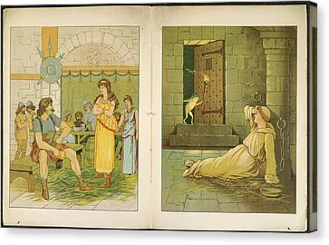 The Marsh King's Daughter Canvas Print by British Library