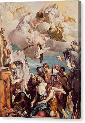 The Martyrdom Of Saint George Canvas Print by Veronese