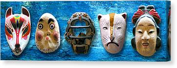 The Mask Collection Canvas Print by Ron Regalado
