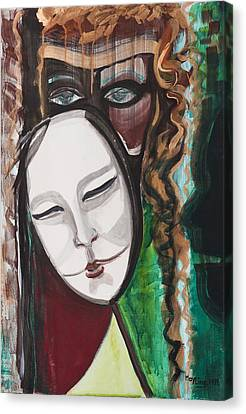 The Mask Canvas Print by May Ling Yong