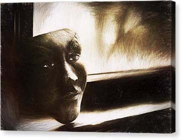 The Mask Sketch Canvas Print by Scott Norris