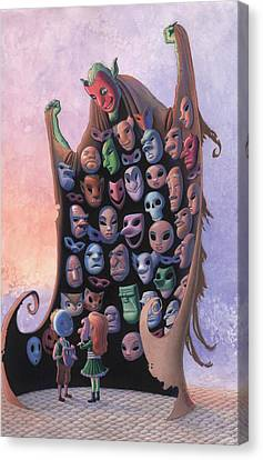 The Mask Vendor Canvas Print by Richard Moore