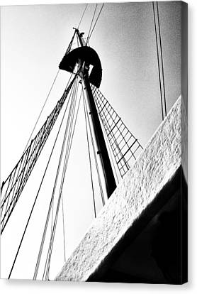 The Mast Of The Peacemaker Canvas Print by Natasha Marco