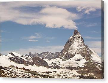 The Matterhorn In Switzerland Canvas Print by Ashley Cooper