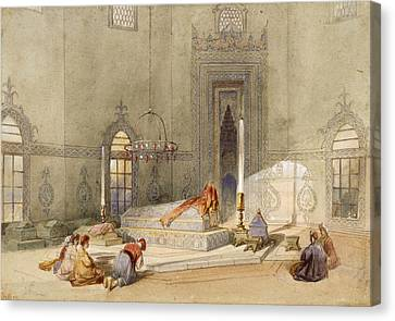 The Mausoleum Of Sultan Mohmed, Brusa Canvas Print by Thomas Allom