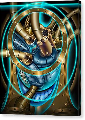The Mechanical Heart Canvas Print by James Christopher Hill