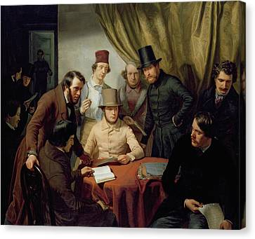 The Members Of The Hamburg Artist's Club Canvas Print by Gunther Gensler