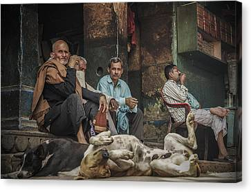 The Men Mourn Canvas Print by Valerie Rosen