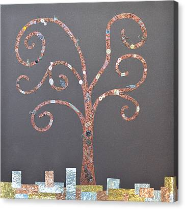 The Menoa Tree Canvas Print by Angelina Vick
