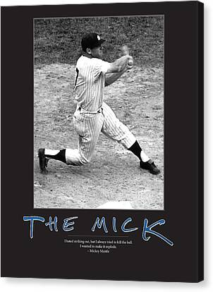 The Mick Mickey Mantle Canvas Print by Retro Images Archive