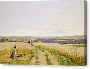 The Midday Rest  Canvas Print by Jean F Monchablon