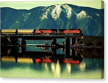 The Mighty Burlington Northern Canvas Print by Benjamin Yeager