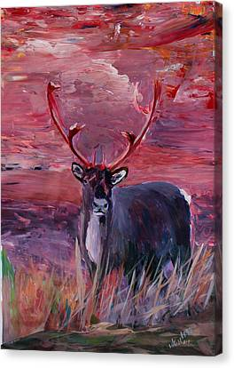 The Mighty Moose Mongoose Reindeer Elk Rentier Caribou Canvas Print by M Bleichner