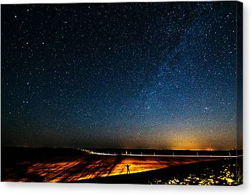 The Milky Way And My Shadow Canvas Print by Matt Molloy